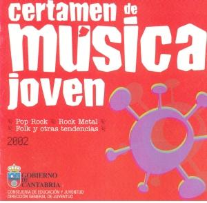 Portada del recopilatorio del II Certamen de Música Jóven del Gobierno de Cantabria
